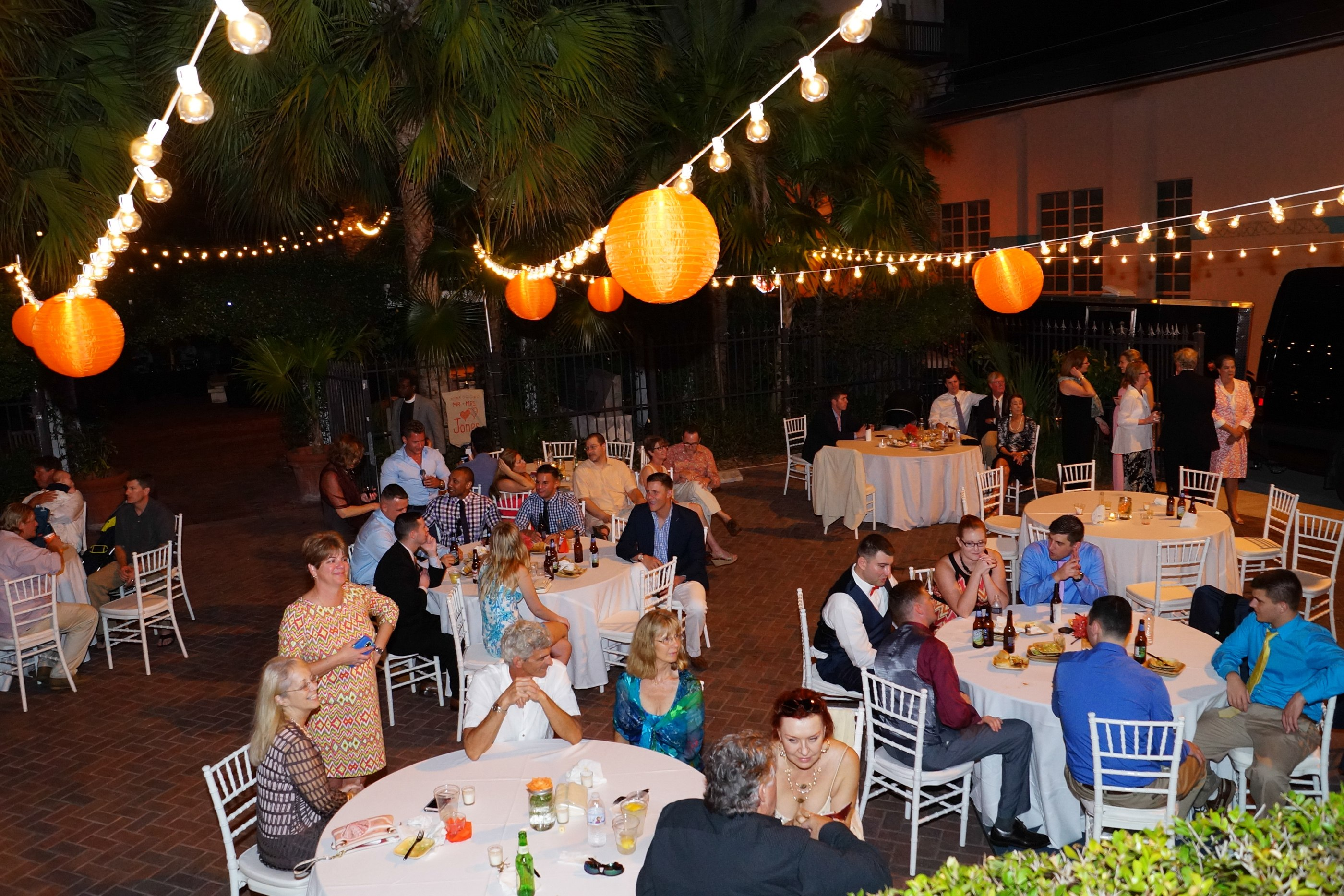 Wedding Receoption Courtside St Paul's Key West