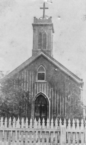 Second church during the Civil War. Scott De Wolf Collection.